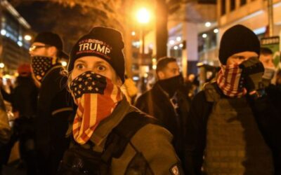 During a pro-Trump rally, Proud Boys violently clashed with BLM protesters